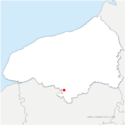 carte de localisation de Saint-Pierre-de-Manneville