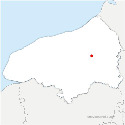 carte de localisation de Saint-Saëns