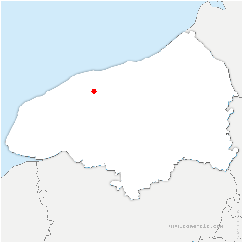 carte de localisation de Saint-Vaast-Dieppedalle