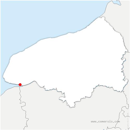 carte de localisation de Saint-Vigor-d'Ymonville