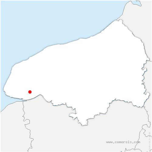 carte de localisation de Saint-Vincent-Cramesnil