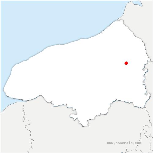 carte de localisation de Sainte-Beuve-en-Rivière