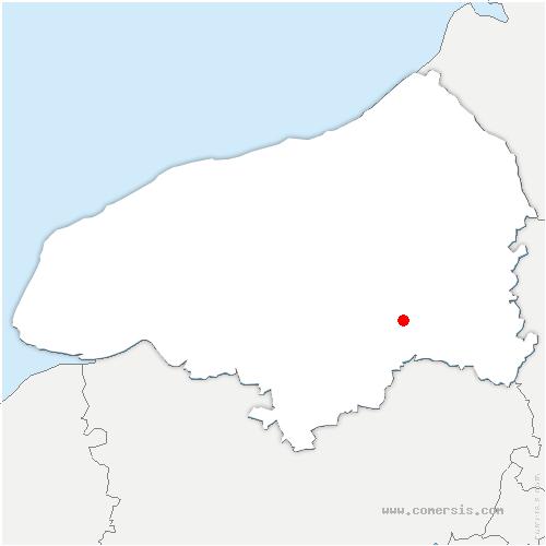 carte de localisation de Sainte-Croix-sur-Buchy