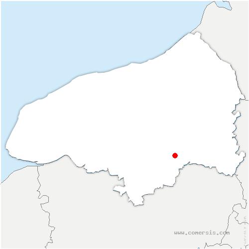 carte de localisation de Servaville-Salmonville
