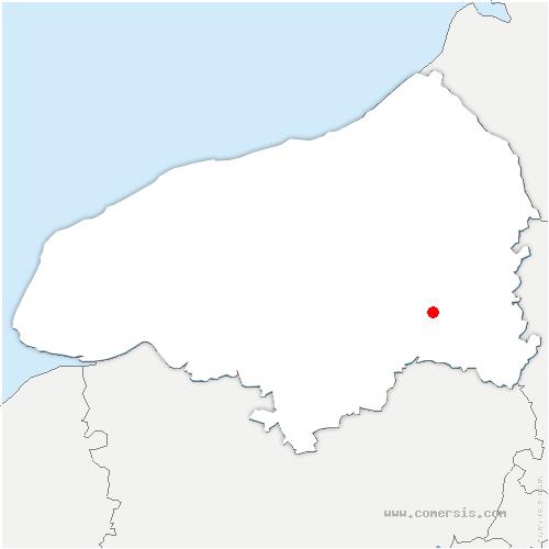 carte de localisation de Sigy-en-Bray