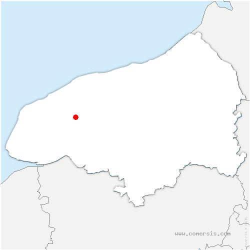 carte de localisation de Terres-de-Caux