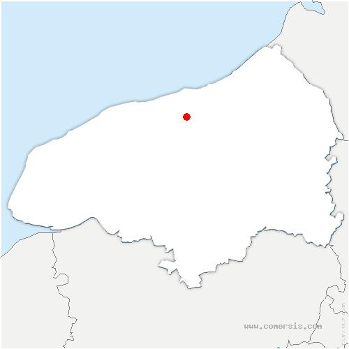 carte de localisation de Thil-Manneville