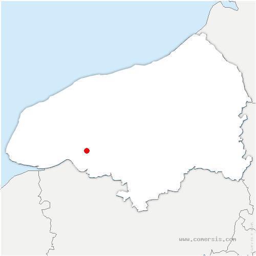 carte de localisation de Touffreville-la-Cable
