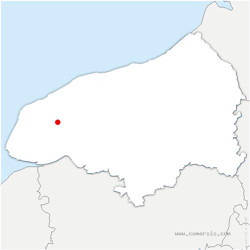 carte de localisation de Vattetot-sous-Beaumont