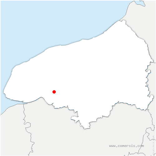 carte de localisation de Villequier