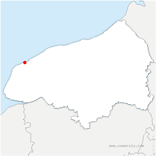 carte de localisation de Yport