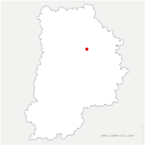 carte de localisation de Beautheil-Saints