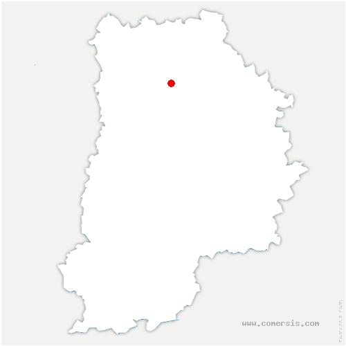 carte de localisation de Bouleurs
