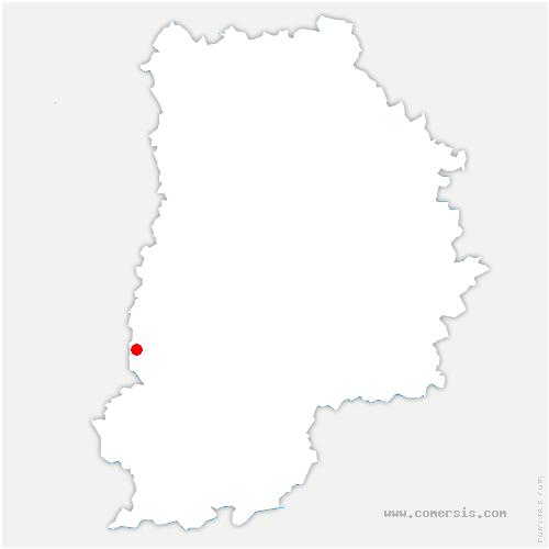 carte de localisation de Cély