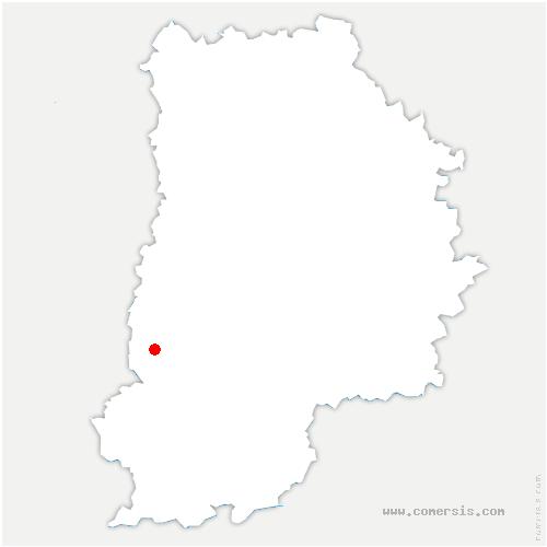 carte de localisation de Chailly-en-Bière