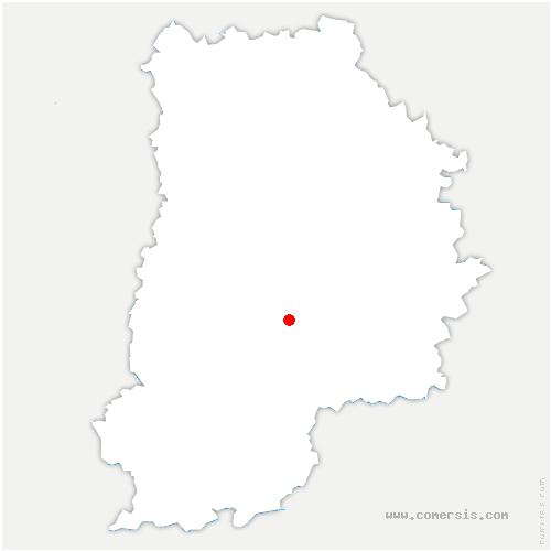 carte de localisation de Chapelle-Rablais