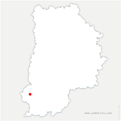 carte de localisation de Chapelle-la-Reine