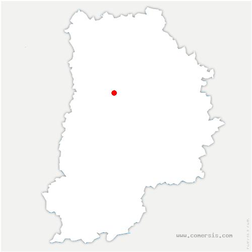carte de localisation de Chapelles-Bourbon