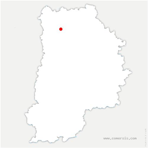 carte de localisation de Charmentray