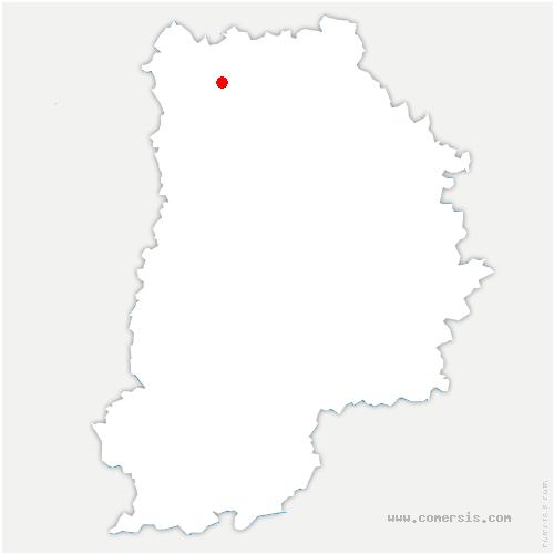carte de localisation de Charny