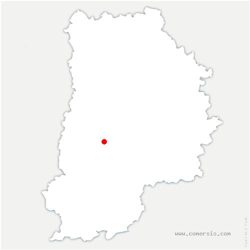 carte de localisation de Châtillon-la-Borde