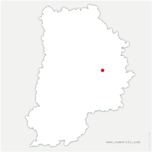 carte de localisation de Chenoise-Cucharmoy