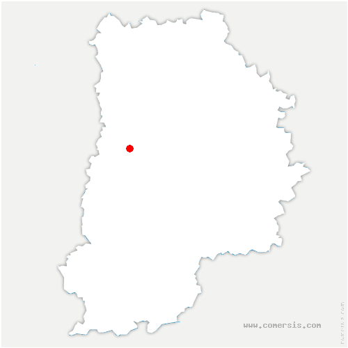 carte de localisation de Courquetaine
