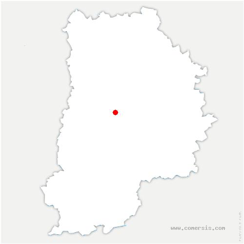 carte de localisation de Courtomer