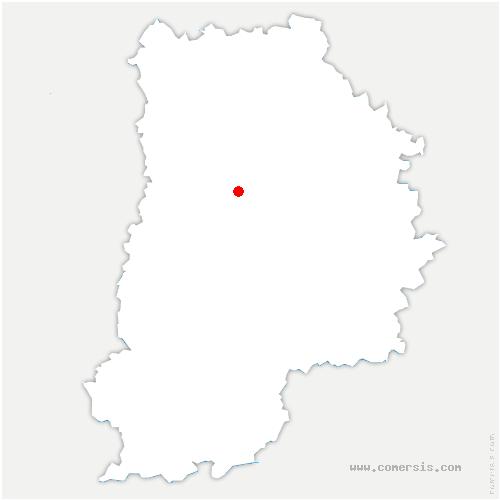 carte de localisation de Crèvecœur-en-Brie