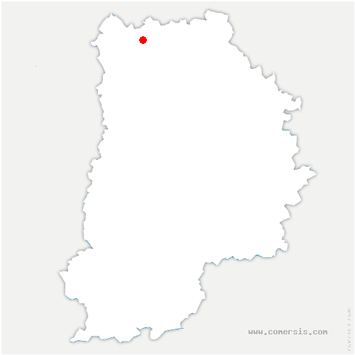 carte de localisation de Cuisy