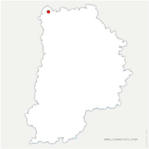 carte de localisation de Dammartin-en-Goële