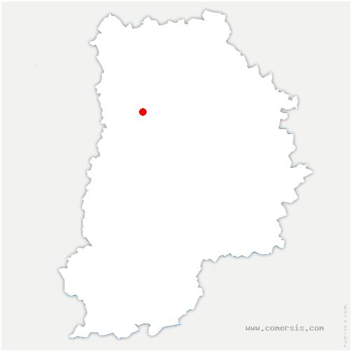 carte de localisation de Favières