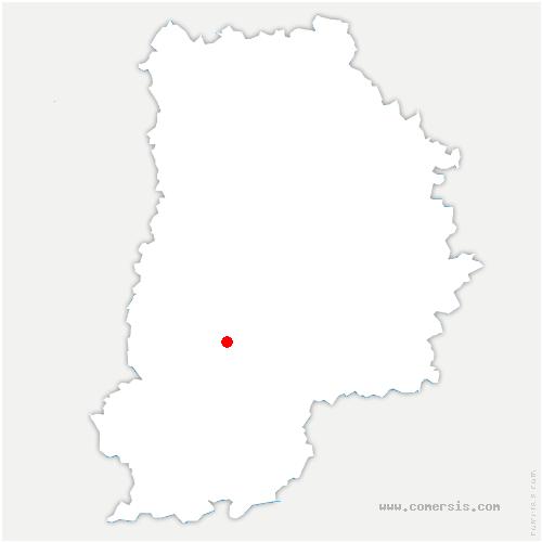 carte de localisation de Féricy
