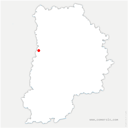 carte de localisation de Férolles-Attilly