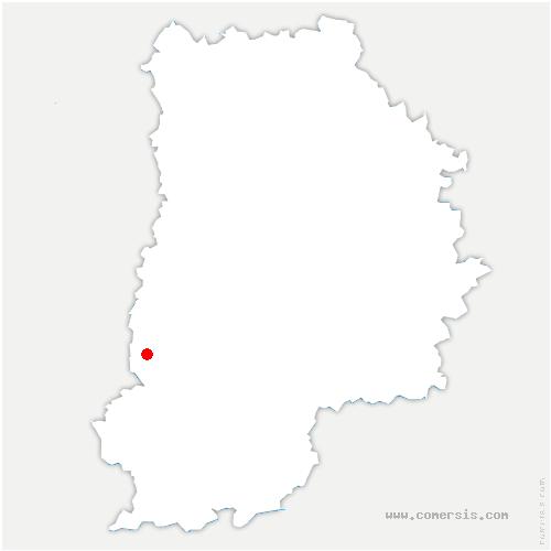 carte de localisation de Fleury-en-Bière