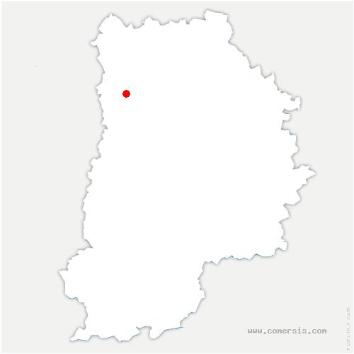 carte de localisation de Gouvernes