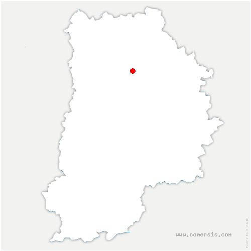 carte de localisation de Guérard