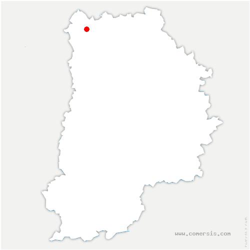 carte de localisation de Juilly