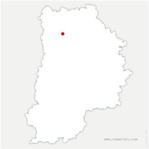 carte de localisation de Lesches