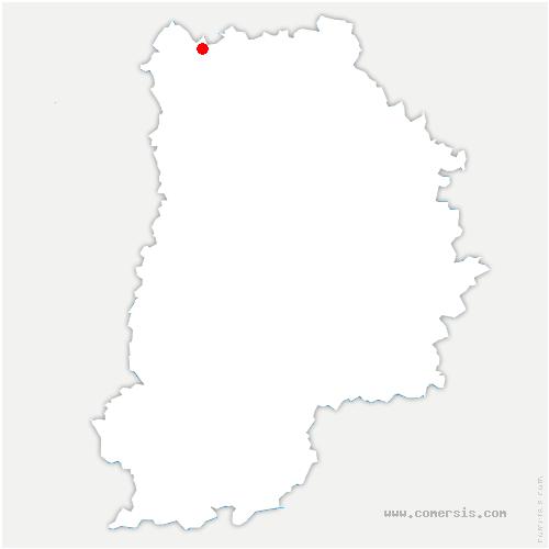 carte de localisation de Marchémoret