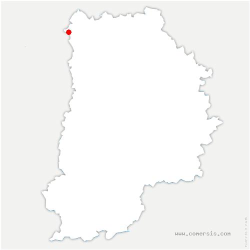 carte de localisation de Mesnil-Amelot