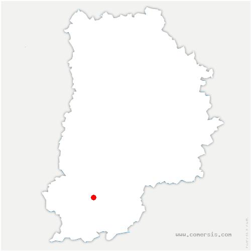 carte de localisation de Montcourt-Fromonville