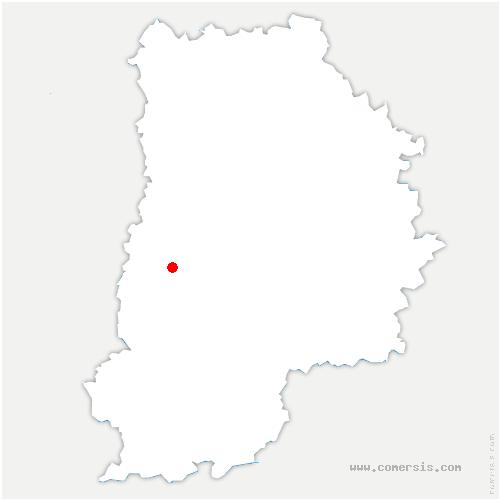 carte de localisation de Montereau-sur-le-Jard