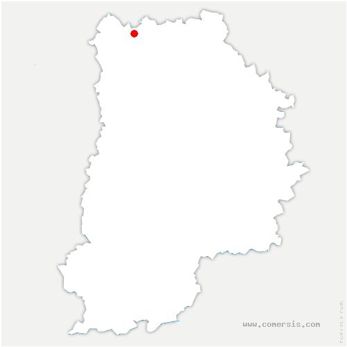 carte de localisation de Montgé-en-Goële