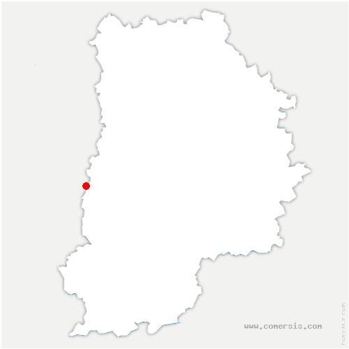 carte de localisation de Nandy
