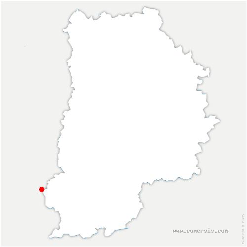 carte de localisation de Nanteau-sur-Essonne
