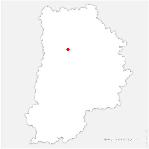carte de localisation de Neufmoutiers-en-Brie