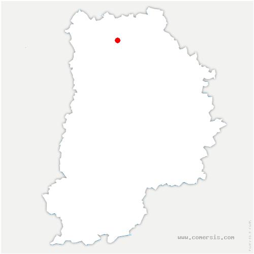 carte de localisation de Penchard