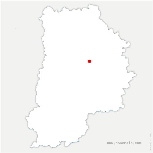 carte de localisation de Plessis-Feu-Aussoux