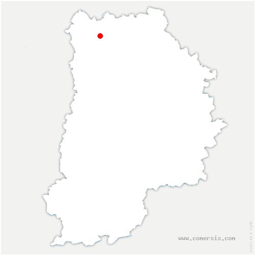 carte de localisation de Plessis-aux-Bois